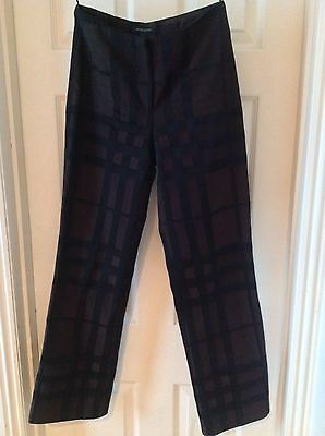 Burberry suit size uk 6 black and brown jacket and trousers made in Italy usa 4