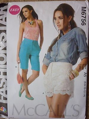 NEW McCALLS LACE OVERLAY SHORTS SEWING DRESSMAKING PATTERN 6-14