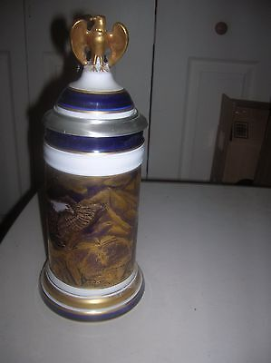 Pair Of Eagles With Lithophane Stein 96/500 By Linder Coa