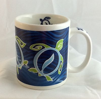 HONU WAVE Designed in Hawaii Blue Turtle Mug Cup
