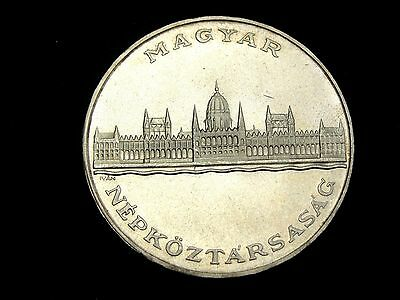 1956 Hungary 25 Forint Silver Coin Looks Unc Km #554