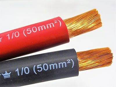EXCELENE 1/0 AWG Welding Lead Cable Copper Wire MADE IN USA Black & Red