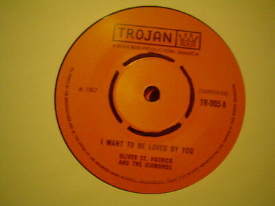 Uk Trojan 2Nd Pressing-Oliver St Patrick-I Want To Be Loved By You-Ex
