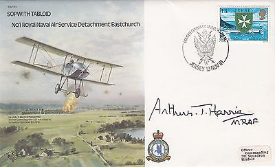 B1c Bomber Command Cover Signed Sir Arthur Bomber Harris  WW1 Pilot