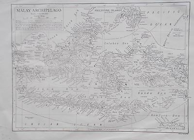 Map of Malay Archipelago. 1911. Encyclopedia Britannica. BORNEO, JAVA.