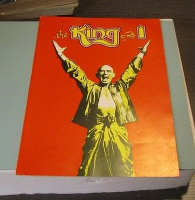 1984 The King And I Broadway Show Souvenir Theatre Program Yul Brynner Classic