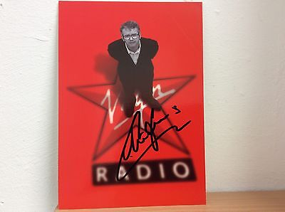 """Chris Evans Hand Signed Autograph On A Virgin Radio Official Card 8"""" x 6"""""""