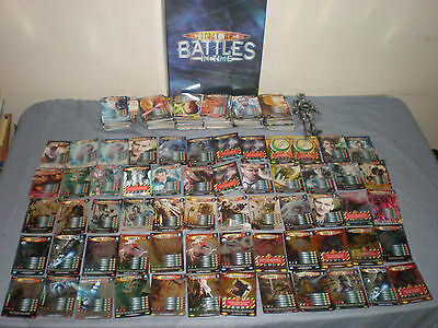 Bundle Job Lot Doctor Who Battles In Time Tcg Cards + Binder Tons Of Rares