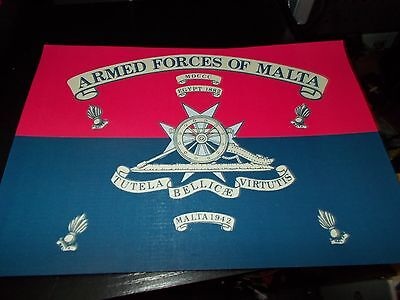 The Armed Forces Of Malta Honours Print A4
