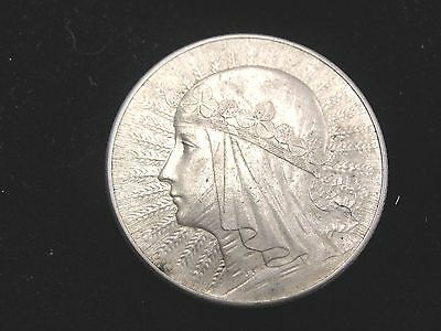 1933 Poland 5 Zlotych Silver Coin Looks XF Y21