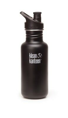 Klean Kanteen - Classic 532ml Shale Black - Sport Cap- Water Bottle