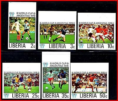 LIBERIA 1978 WORLD FOOTBALL (SOCCER) CUP imperforated MNH SPORTS (K-J18)