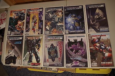 10 - TRANSFORMERS SPOTLIGHT Comics from IDW - Jazz Drift Sixshot Blur Sideswipe