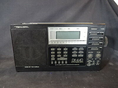 Realistic DX-440 PLL Synthesized Circuit AM/FM Direct Entry Radio Receiver