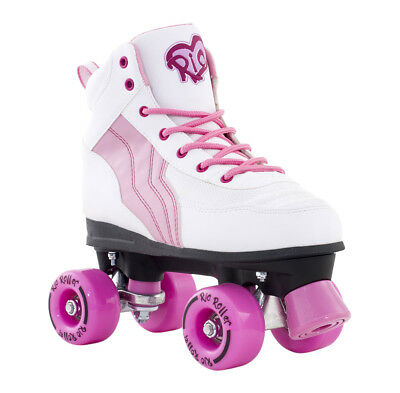 Rio Roller - Pure Adults Skate - White/Pink- Adult Quad Roller Skates