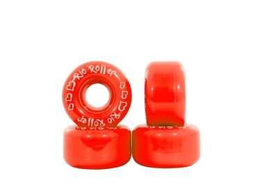 Rio Roller - Coaster Wheels - Red- Colourful Roller Skate Wheels - Pack of 4