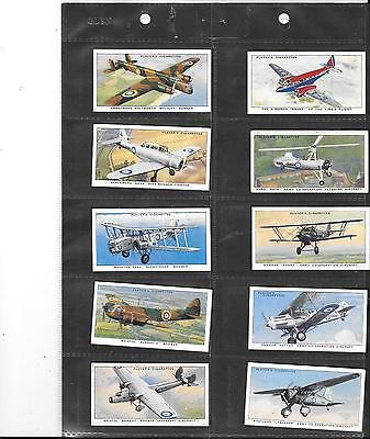 Player's - Aircraft Of The Raf - 1938 - Full Set In Sleeves