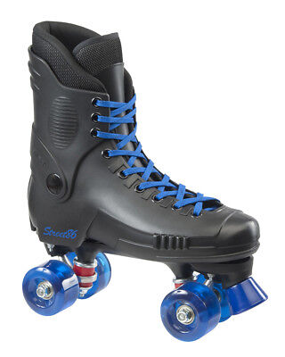SFR - Street Quad Skate - Black/Blue- Adult Quad Skates