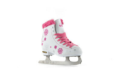 SFR - Snowflake Childs Ice Skate - White/Pink- Junior Ice Skates