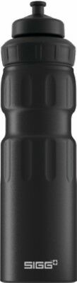 Sigg - Wide Mouth Sport Bottle Touch Black - 0.75L- Aluminum Water Bottle