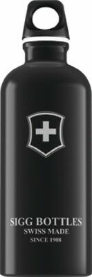 Sigg - Swiss Emblem Black - 0.6L- Aluminum Water Bottle