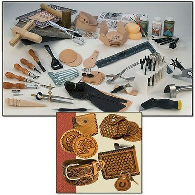 TANDY PRODUCT.  (ULTIMATE LEATHER CRAFT SET)  24Lbs. 55504-00  Excellent!!