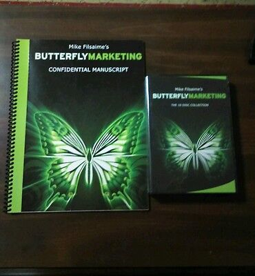 Mike Filsaime's BUTTERFLY MARKETING 10-Disc with Book Excellent Condition