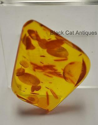 German Estate Find - Genuine Honey Amber - Angular Polished Pendant 12 Grams