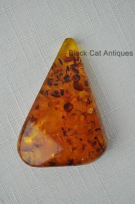 German Estate Find - Genuine Honey Amber - Angular Polished Pendant 10.6 Grams