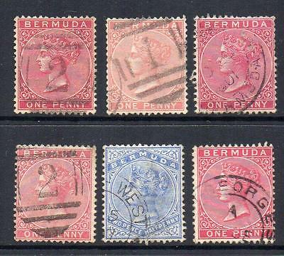 BERMUDA Group of 6 1883/1904  Very Fine Used  Wmk; C.A. Good Looking Sound