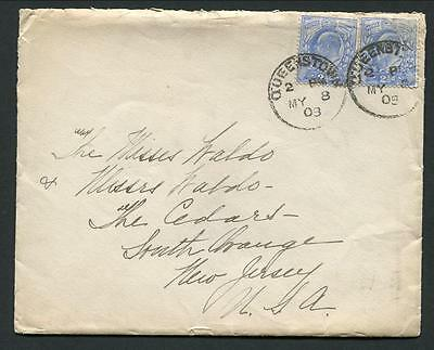 "1903 White Star ""arabic"" - Long Letter To Children - Posted Queenstown"