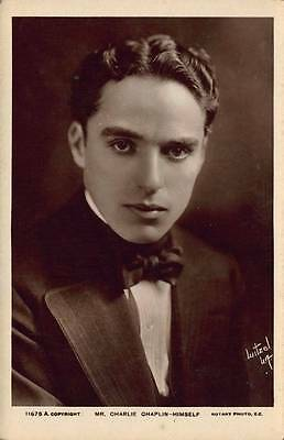 Charlie Chaplin Postcard Real Photograph Rotary Photo Bromide Card Actor 11675A