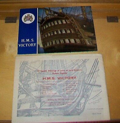 H.m.s. Victory Guide Book (1965) & 12 Drawings By Christine Warburton