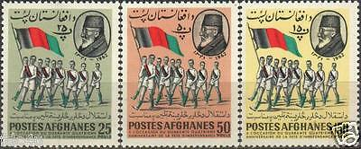 Afghanistan 1962 Stamps Nadir Shah & Athletes With Flag