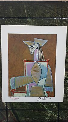 Pablo Picasso old Genuine 1946 lithograph art print hand signed Paris stamp