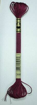 DMC Light Effects Thread E3685 ROSEWOOD Embroidery Floss, 8m Skein