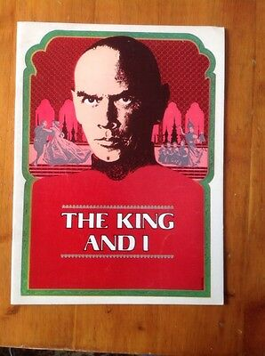 The King And I, Yul Brynner, Broadway Program, 1977