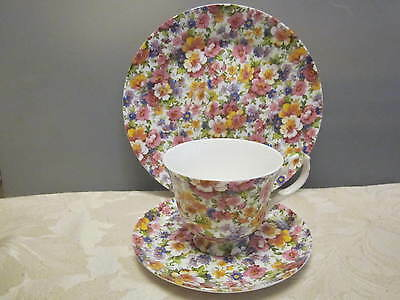 Creative Tops Fine Bone China Olde England Chintzy Tea Cup & Saucer Plate Trio