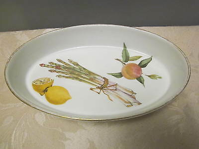 Vintage 1961 Royal Worcester Evesham Oval 10.5 inches Oven Lasagne/Pie Dish Bowl