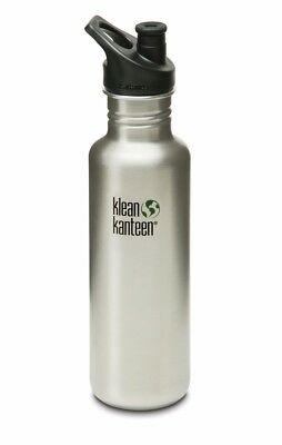 Klean Kanteen - Classic 800ml/27oz Brush Stainless - Sport Cap- Water Bottle