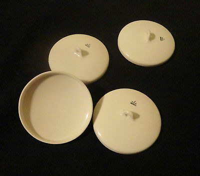 Lot of Two (2) Coors U.S.A.  Size J Porcelain Crucible Lids -- No.:5