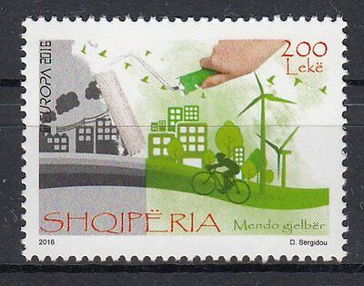 ALBANIA 2016 EUROPA CEPT.THINK GREEN.1 stamp.MNH