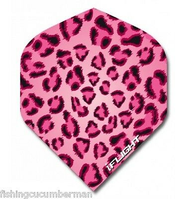 """Ruthless Invincible """"pink Leopard Print """" Extra Strong Dart Flights"""