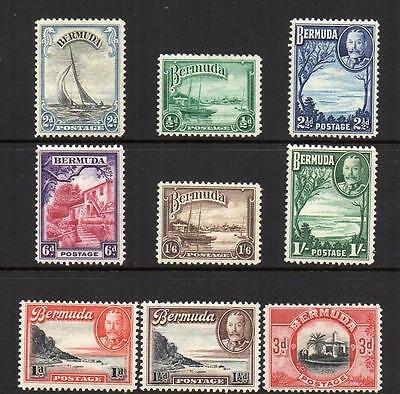 BERMUDA Group of 9 1936-47 M. Mint with gum Good Quality nice looking Stamps
