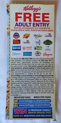 Kellogg's Merlin Attractions Free Adult Entry Voucher