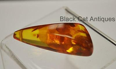 German Estate Find - Genuine Honey Amber - Angular Polished Pendant 5 Grams