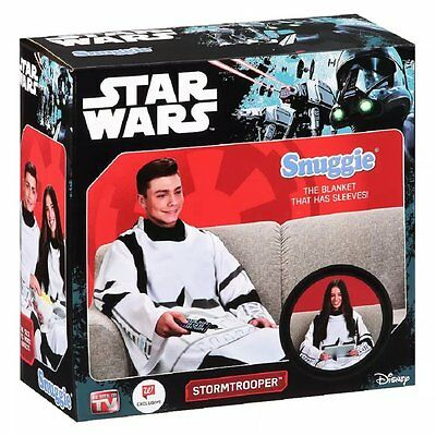 "Snuggie Star Wars Stormtrooper Blanket W/ Sleeves Adult Size 71""x54"" Polyester"