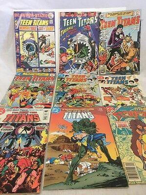Vintage DC Silver, Bronze And Copper Age Teen Titans - 9 Comic Lot