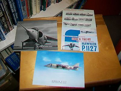 Hawker P.1127 Vertical Take Off Strike Aircraft Brochure Picture Photo Kestrel