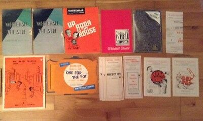 14 WHITEHALL THEATRE PROGRAMMES assorted years